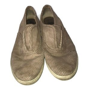 Frye Brown Mindy Slip On Textured Shoes Size 11